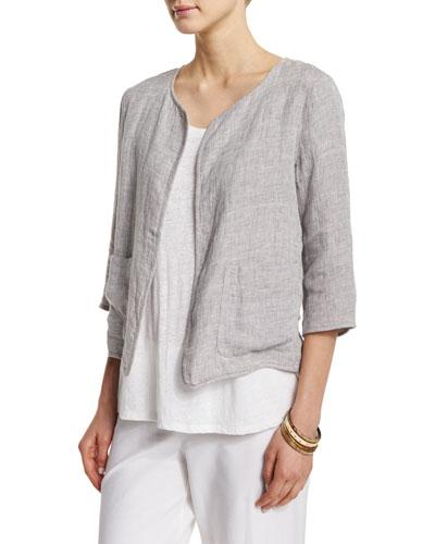 Double-Face Linen-Blend Jacket
