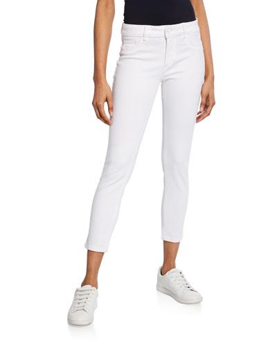 Florence Instaculpt Cropped Skinny Jeans, Porcelain