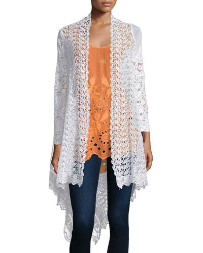 Swirl Crochet Jacket, Plus Size