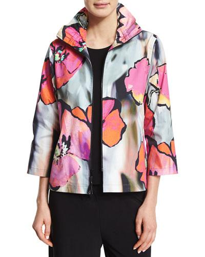 Full Bloom Zip-Front Jacket