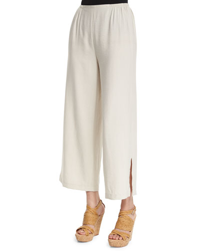 Cabo Crinkled Ankle Pants, Petite