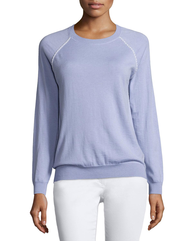 Corey Crewneck Sweater, Lilac