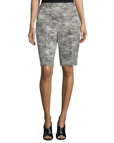 Mid-Rise Bermuda Shorts, Charcoal