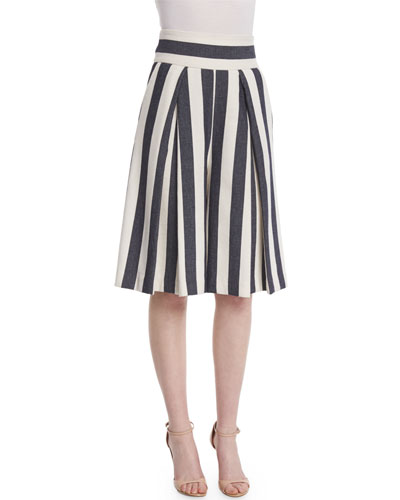 Graphic Striped Cropped Culottes