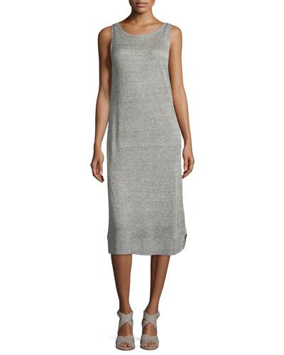 Fisher Project Rustic Organic Linen Calf-Length Dress
