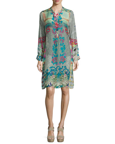 Yokina Printed Georgette Dress, Petite