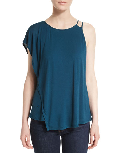 Asymmetric Draped Top, Deep Sea