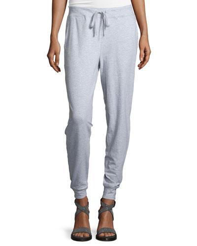 Drawstring Organic Melange Stretch Pants