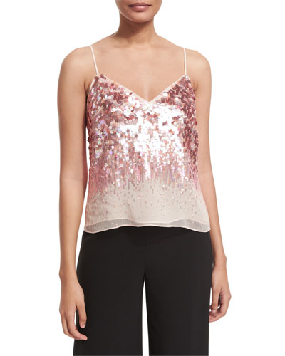 Sleeveless Embellished Top, Sorbet