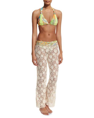 Wonderful Day Lace Beach Pants, Natural