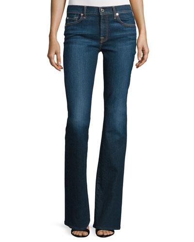Low-Rise Boot-Cut Jeans, New York Dark