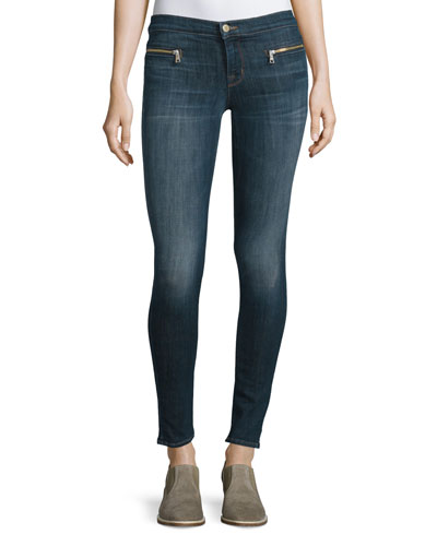 Emma Mid-Rise Super Skinny Jeans, Reserved