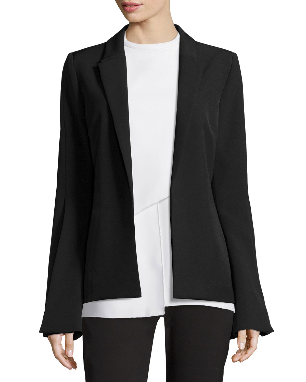 Paris Tailoring Flared-Sleeve Jacket, Black