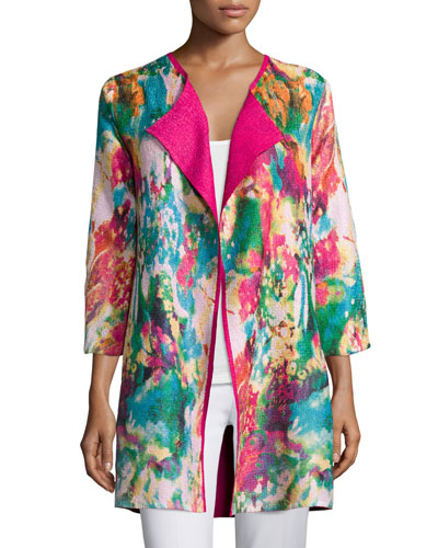 Watercolor Crinkled Reversible Jacket