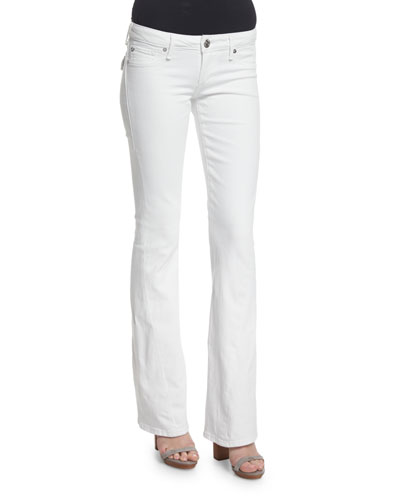 Joey Low-Rise Flare-Leg Jeans, Optic White