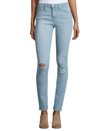 Karlie Forever Skinny Distressed Jeans, Albright