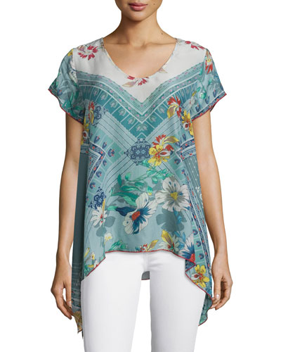 Elly Flared Printed Tunic, Plus Size