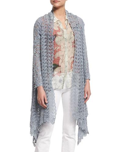 Swirl Crochet Jacket, Fog