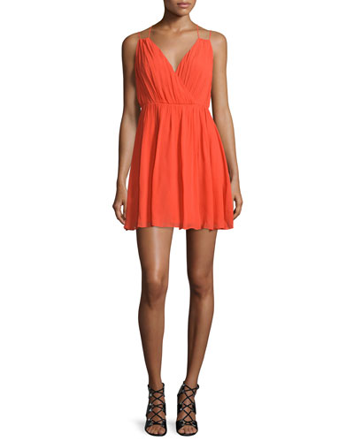 Porta Sleeveless Mini Dress, Blood Orange