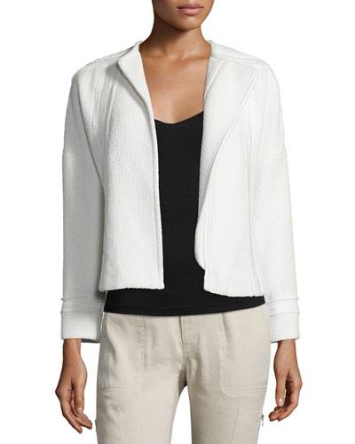 Frayed-Trim Boucle Jacket