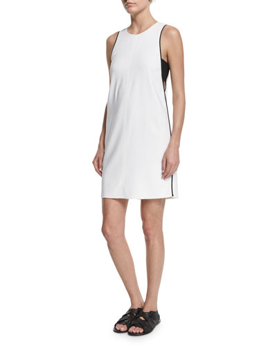 Clementine Bandeau-Trim Shift Dress, Bright White