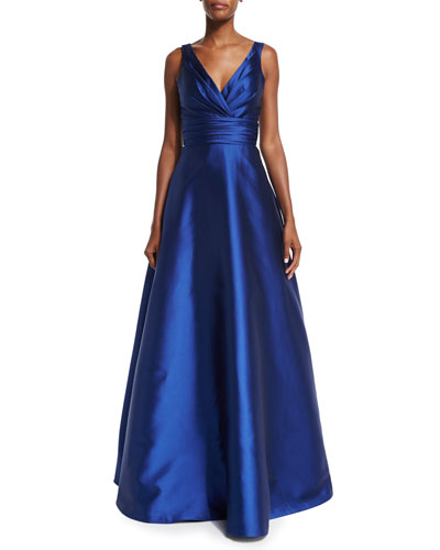 Sleeveless Ruched Ball Gown