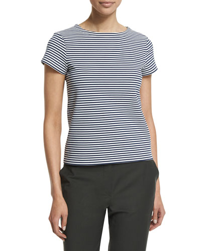 Laveneg Sail Stripe Short-Sleeve Top