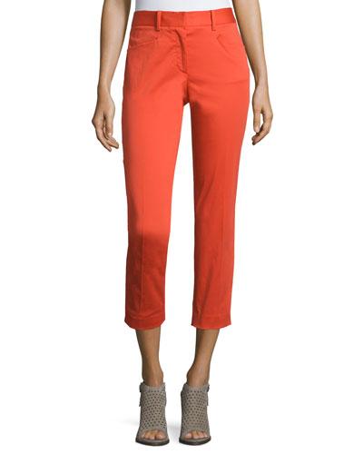 Audrey Cropped Stretch Pants, Sunburst