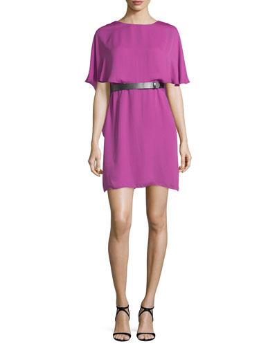 Short-Sleeve Flowy Caftan Dress, Orchid