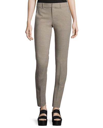 Wool-Blend Strapping Trousers