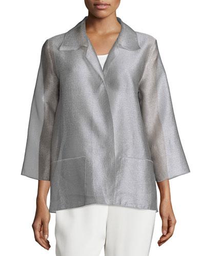 Occasion Organza Easy Shirt, Platinum