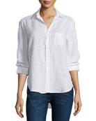 Frank & Eileen Eileen Button-Front Shirt, White