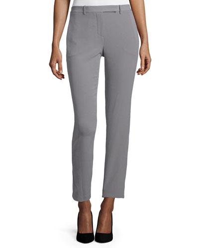 Slim-Leg Cropped Pants, Gravel