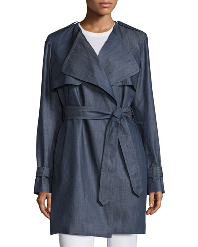 Denim Wrap Trenchcoat