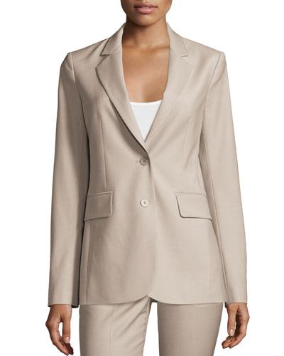 Aaren Continuous Wool-Blend Jacket, Gray
