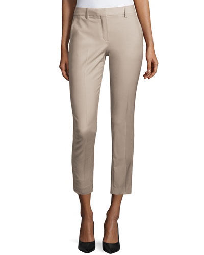 Treeca Cl. Continuous Cropped Pants, Gray Khaki