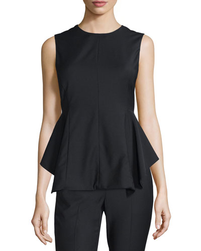 Kalsing Cl. Continuous Peplum Top, Black