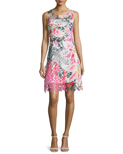 Dharma Sleeveless Floral Lace Dress