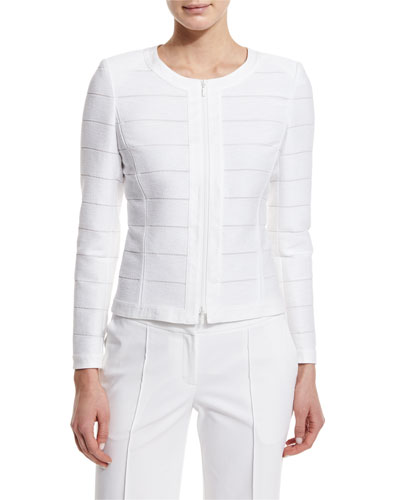 Catrice Striped Jacket, White