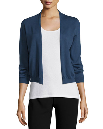 Long-Sleeve Cotton Cardigan