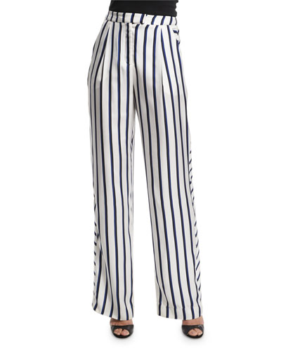 Dual-Striped Wide-Leg Pants, Dual Stripe