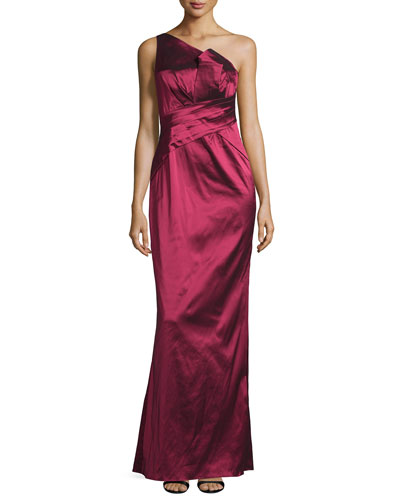 One-Shoulder Mermaid Gown, Ruby