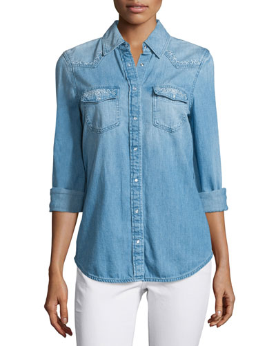 Sutton Embroidered Chambray Shirt