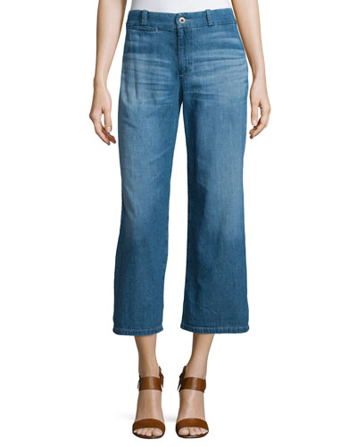 The Bobbie Wide-Leg Cropped Jeans, Weekend Getaway