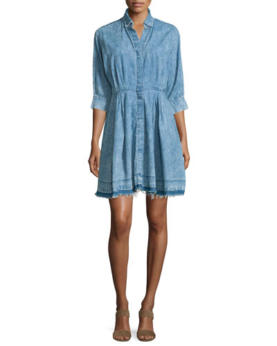The Reformed Denim Shirtdress, Pierrot