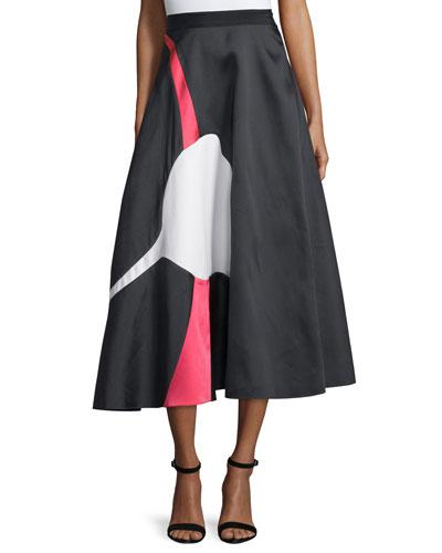 Imago Jacquard Full Midi Skirt