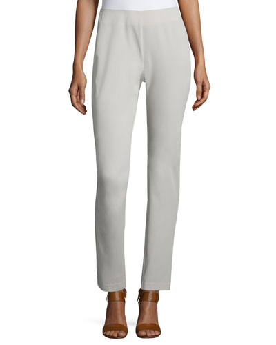 Mid-Rise Skinny Pants, Tan