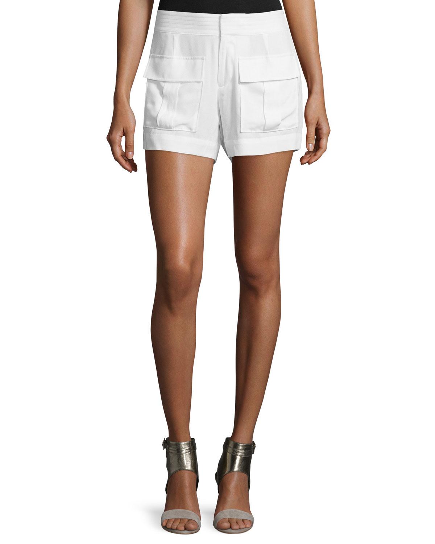 Ameya Front-Pocket Crepe Shorts