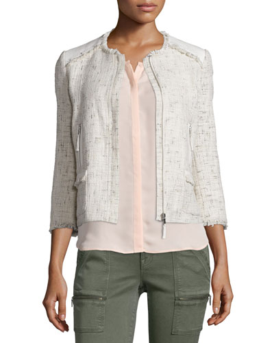 Miriah Basketweave Double-Face Jacket