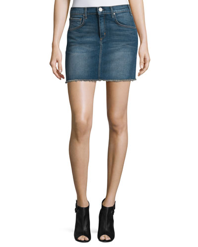 Deconstructed Denim Mini Skirt, Fortunado